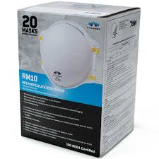 RM10 box respirator with and without valve