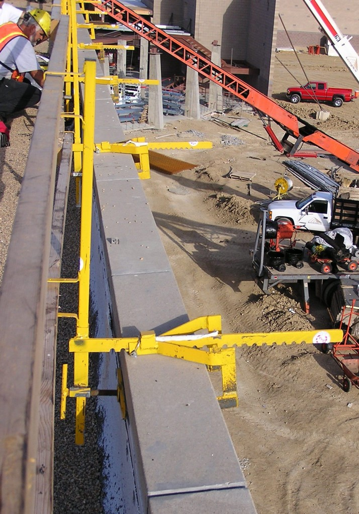 Parapet Wall Guard Rail Systems Bracket & Post