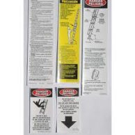 LFE100 Replacement Decal Kit - Fiberglass Ext. Ladders